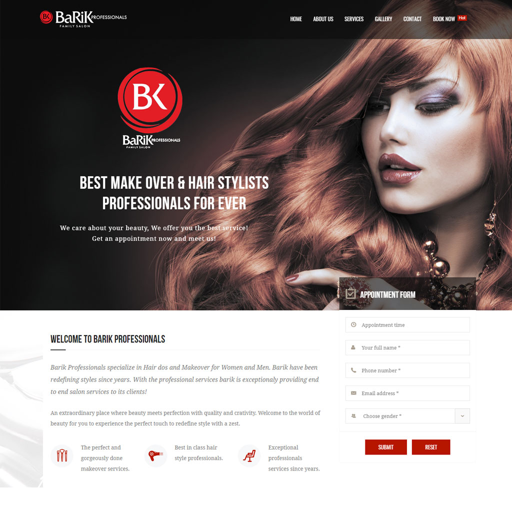salon website development kochi