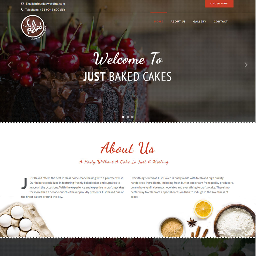 Website Development Portfolio Just baked